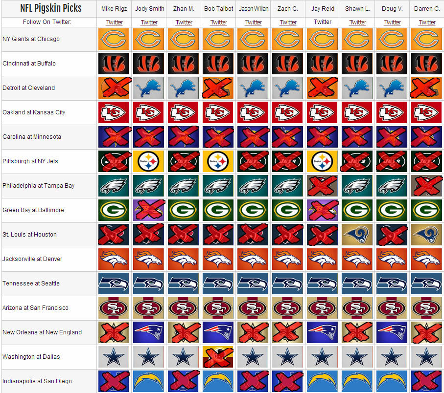 Picks 2013 Week 6