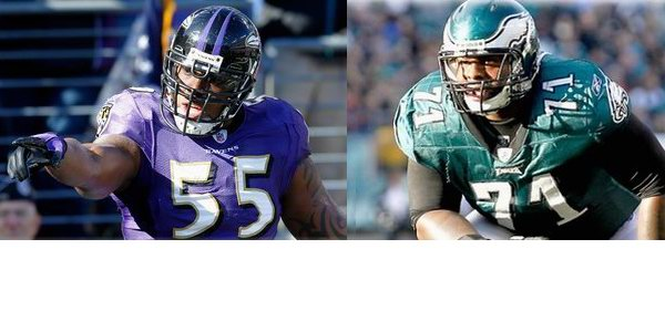 Terrell Suggs and Jason Peters