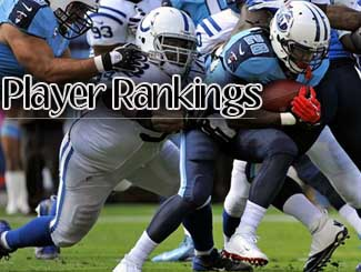 fantasy player rankings week nine