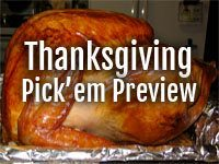 Thanksgiving Pick'em Preview