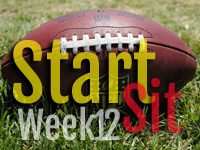 Start'em Sit'em Week 12