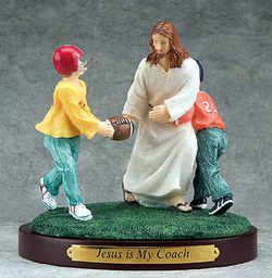 jesus plays football