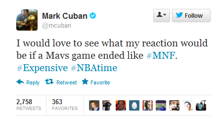 Twitter mcuban I would love to see what my ...