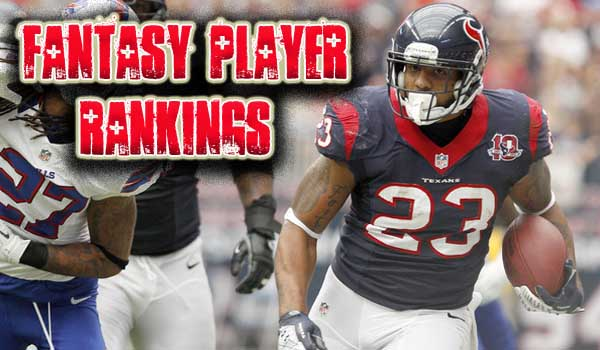 Week 14 Fantasy Player Rankings