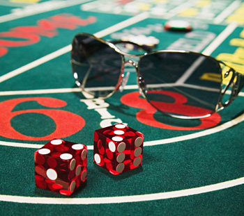 Shooting Dice At The Casino Map Roulette