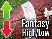 Fantasy Football High/Low: Week 9 10