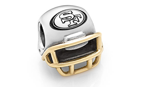 San Francisco 49ers Pandora 14kt Gold Football Helmet Charm