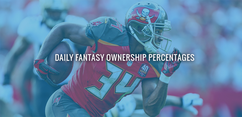 Daily Fantasy Ownership Percentages: Week 4