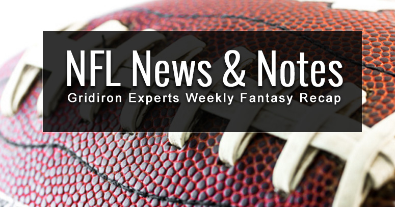 NFL News and Notes