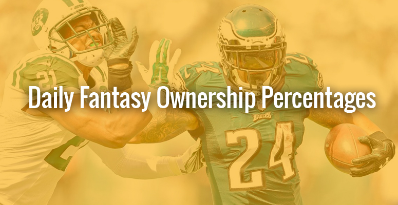 DFS ownership percentage week 5