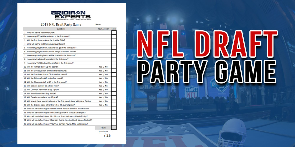 FREE NFL Draft Party Game