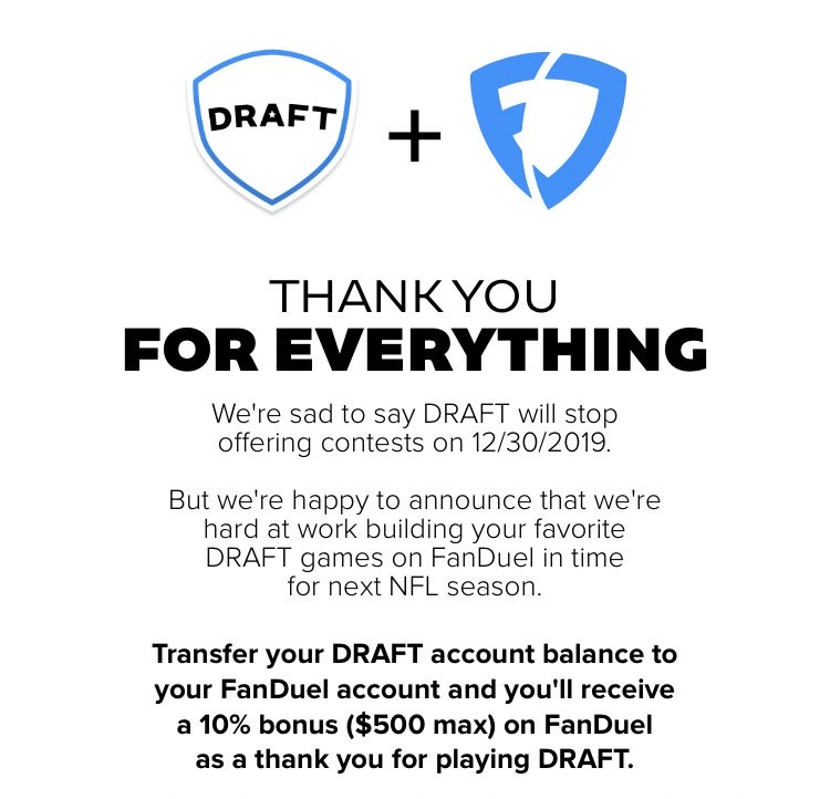 playDRAFT Shutting Down