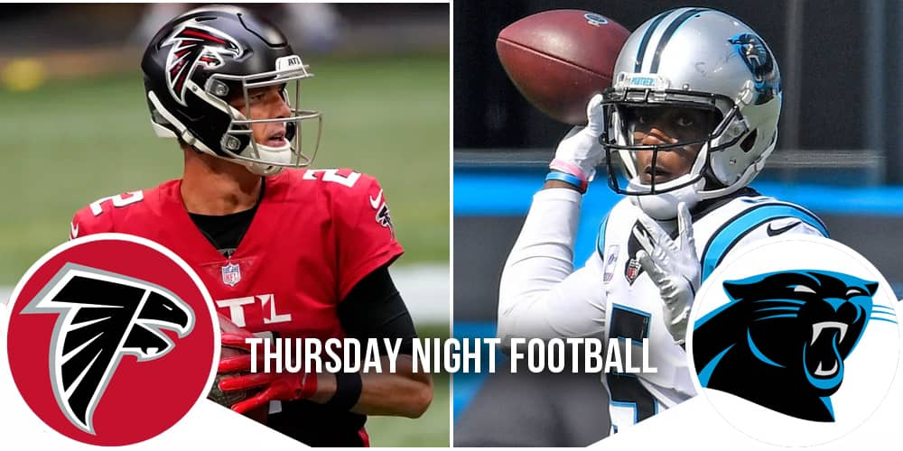 TNF Week 8 Falcons at Panthers